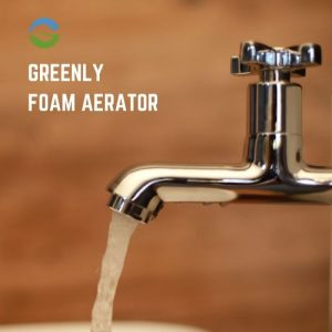 Foam water saving aerator for taps