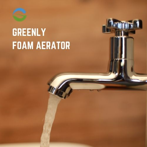 Foam water saving aerator for taps