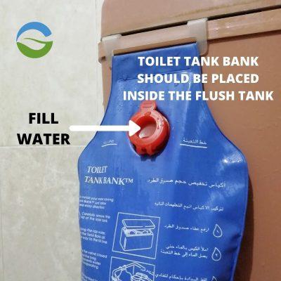 flush tank Toilet bank to save water